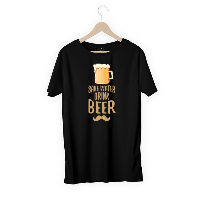 892-save-water-drink-beer-men-half-t-shirt