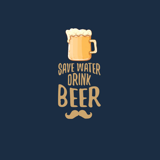 2668-save-water-drink-beer-women-half-t-shirt