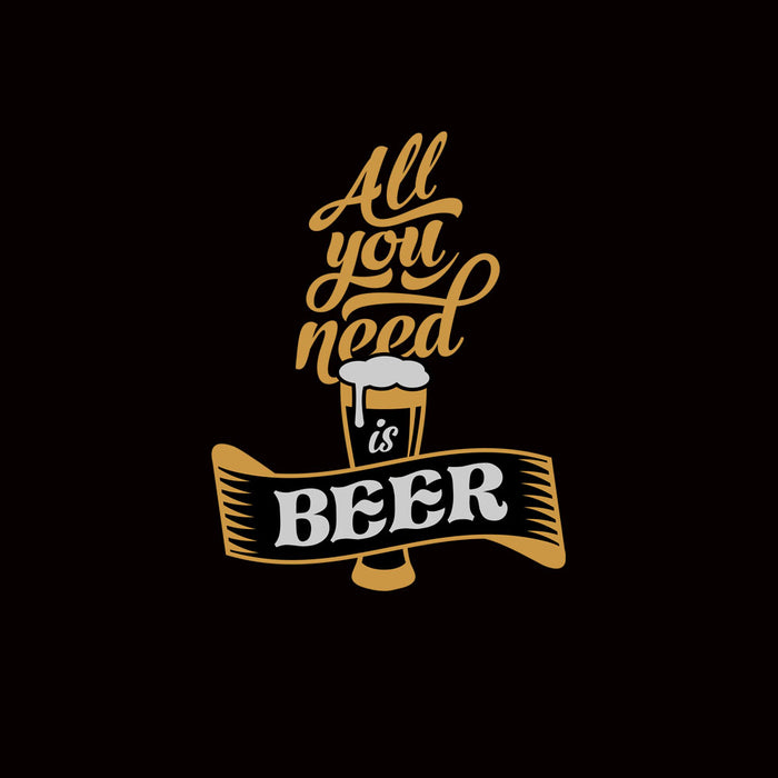916-all-you-need-is-beer-men-half-t-shirt