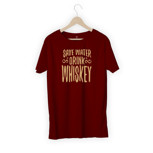 932-save-water-drink-whisky-men-half-t-shirt