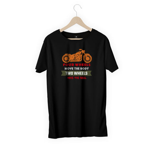 1557-four-wheels-move-the-body-men-half-t-shirt