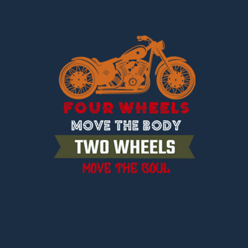 1558-four-wheels-move-the-body-men-half-t-shirt