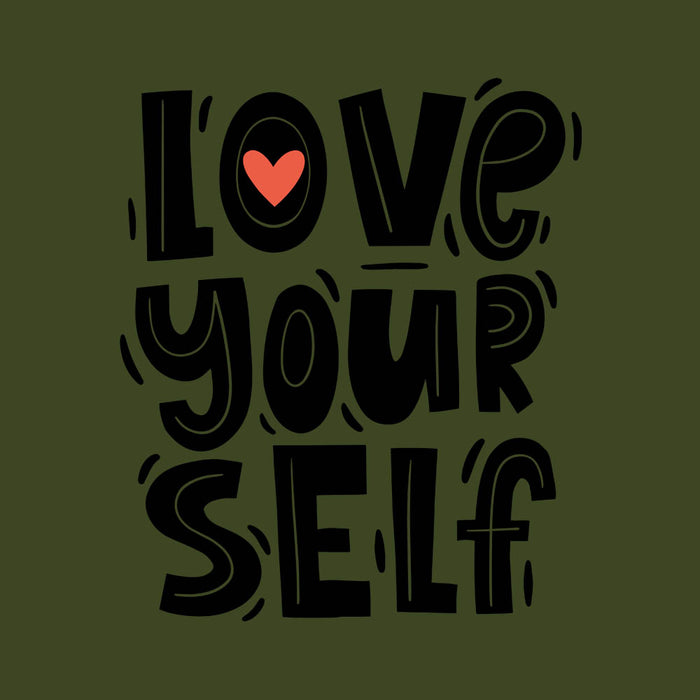 1490-love-yourself-men-half-t-shirt