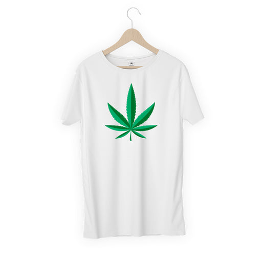 5705-weed-leaf-women-half-t-shirt