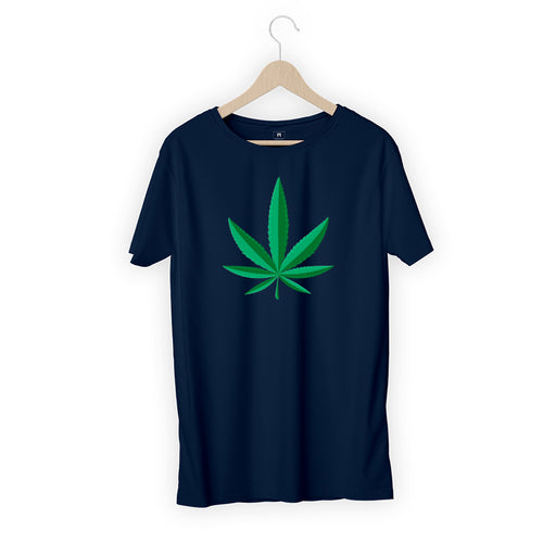 5604-weed-leaf-men-half-t-shirt