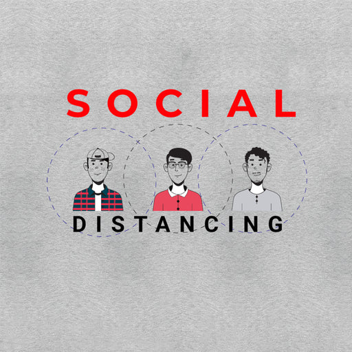 Social Distancing Men Half T-Shirt