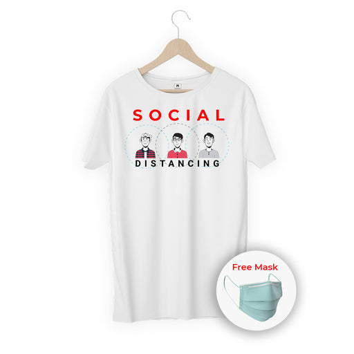 Social Distancing Women Half T-Shirt
