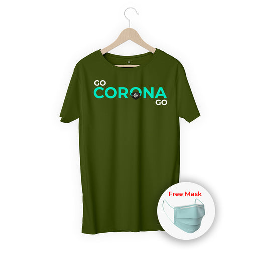 Go Corona Go Men Half T-Shirt