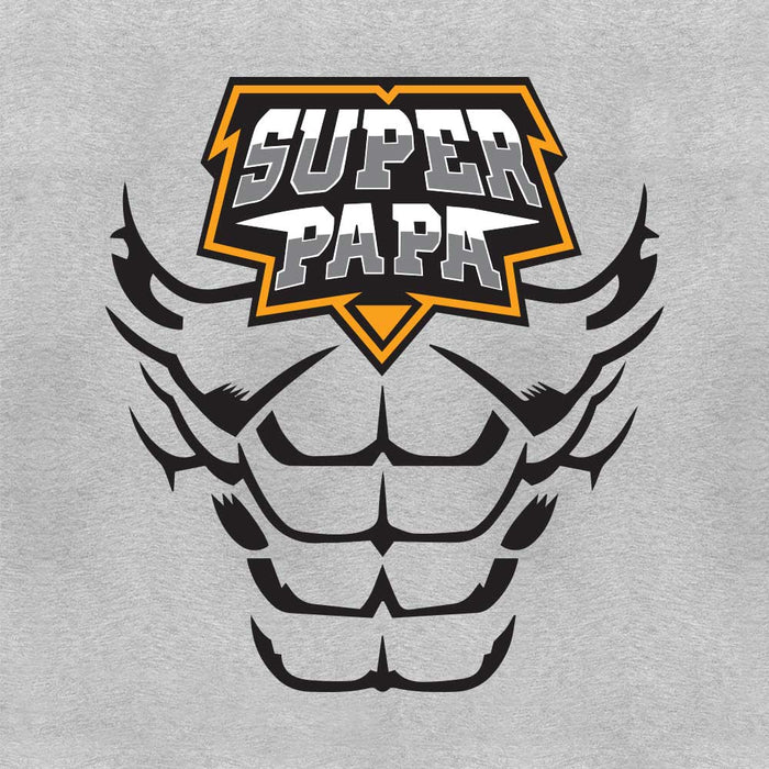1976-super-papa-men-half-t-shirt
