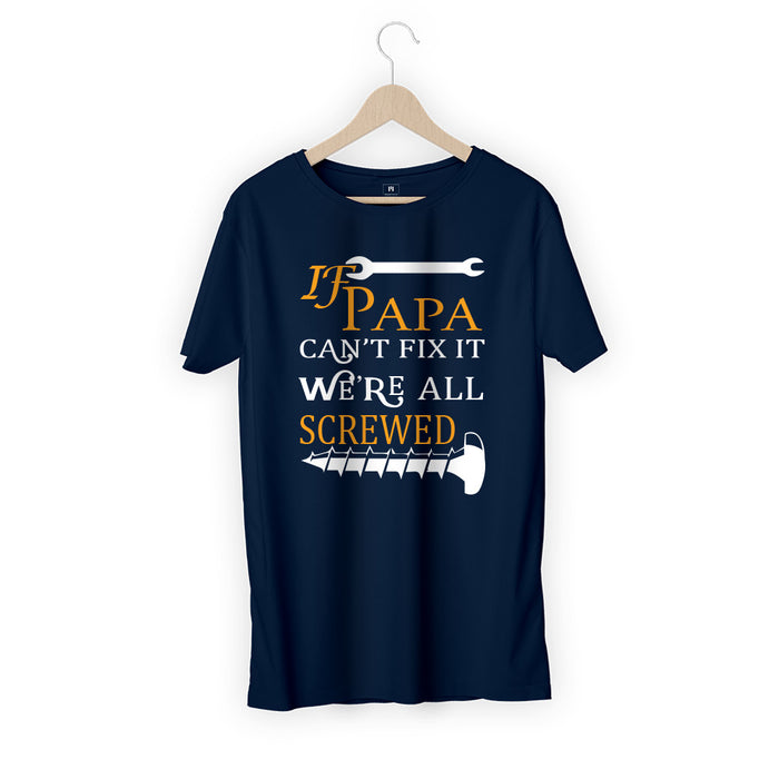 1985-papa-can-fix-men-half-t-shirt