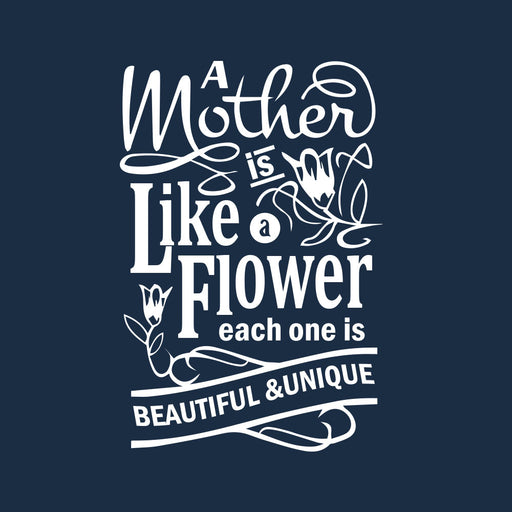 3558-mother-is-like-a-flower-women-half-t-shirt