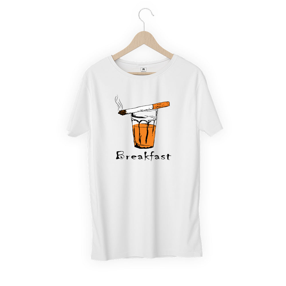 Breakfast White T Shirt