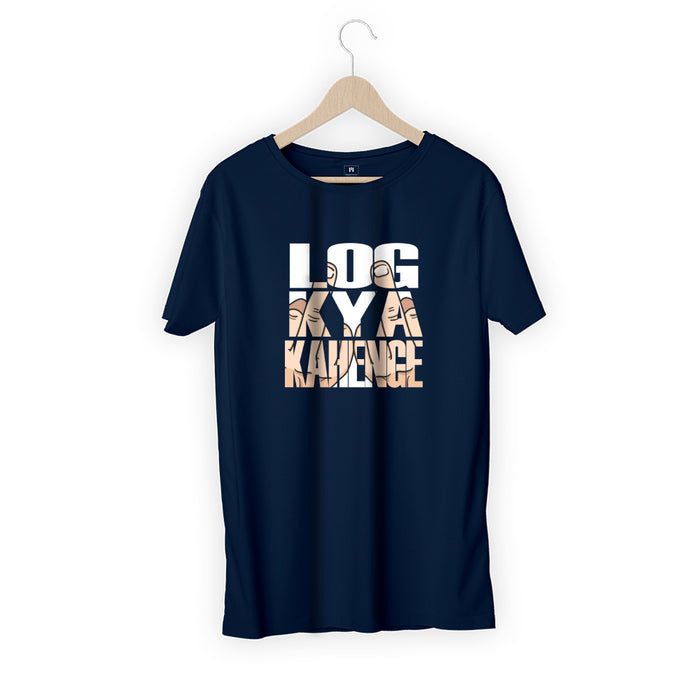 1042-log-kya-kahenge-men-half-t-shirt
