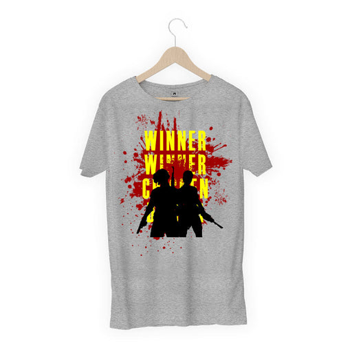 679-chicken-dinner-men-half-t-shirt