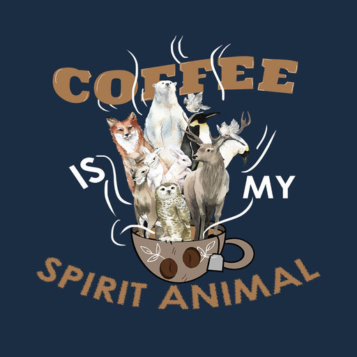 1785-coffee-is-my-spirit-animal-men-half-t-shirt