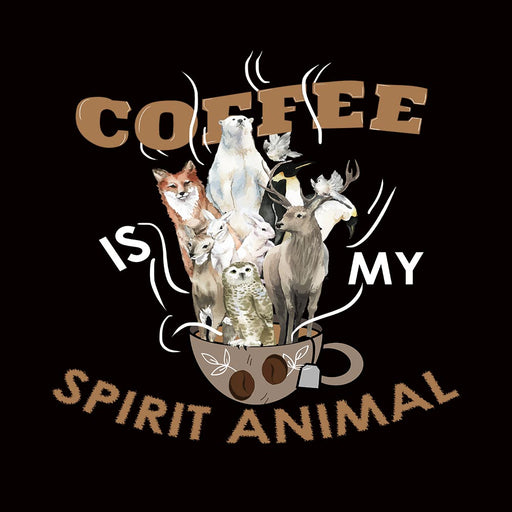 1786-coffee-is-my-spirit-animal-men-half-t-shirt
