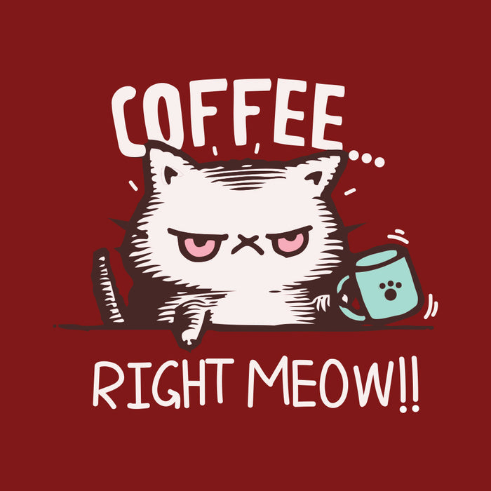 1889-coffee...-right-meow!!!-men-half-t-shirt