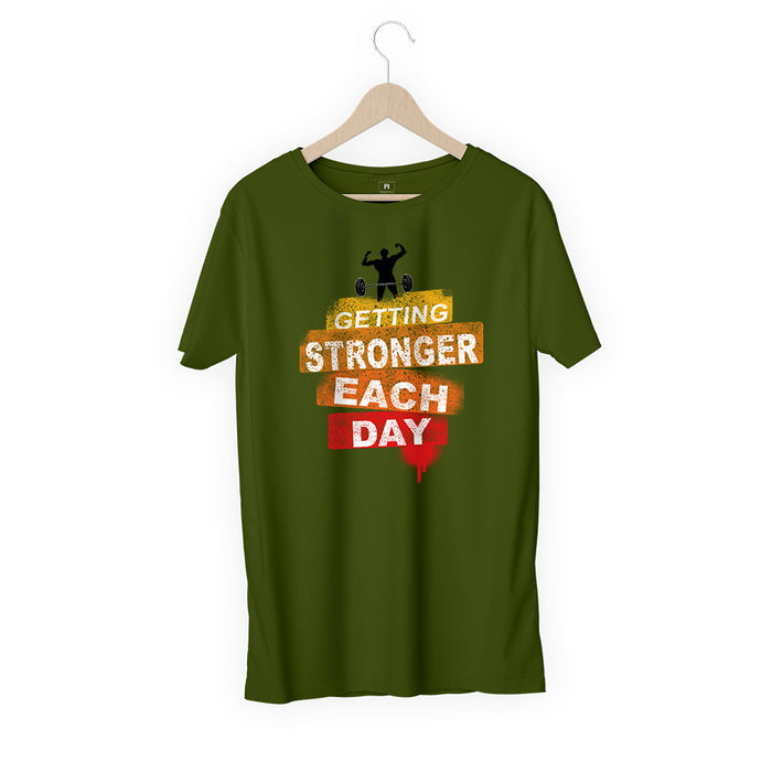 943-getting-stronger-each-day-men-half-t-shirt