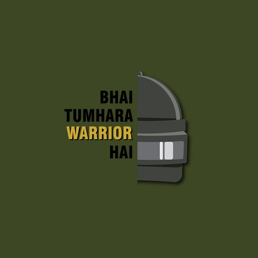 2818-bhai-tumhara-warrior-hai-women-half-t-shirt