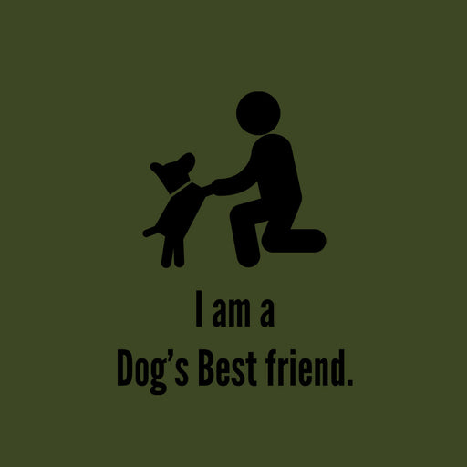 2828-i-am-a-dog's-best-friend-women-half-t-shirt