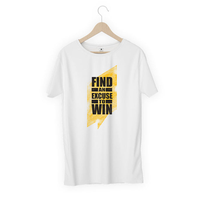 1263-find-an-excuse-to-win-men-half-t-shirt