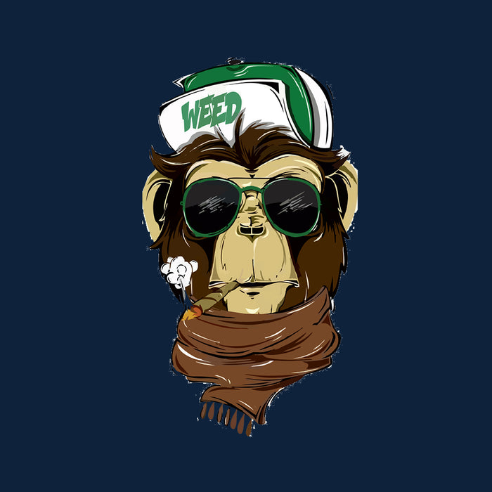 5831-weed-monkey-women-half-t-shirt