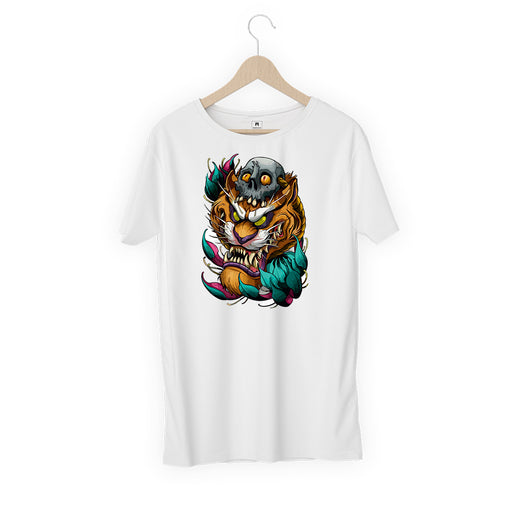 5835-lion-monster-women-half-t-shirt