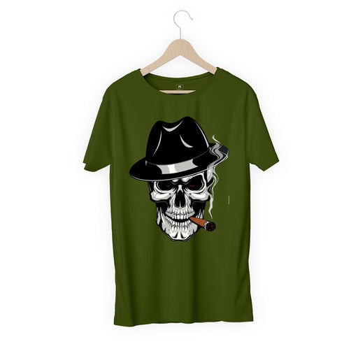 Smoking Skeleton Men Half T-Shirt
