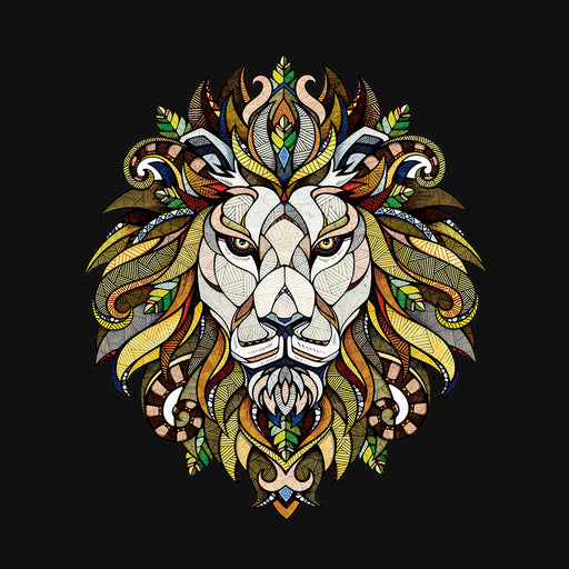 Lion Modern Art Men Half T-Shirt