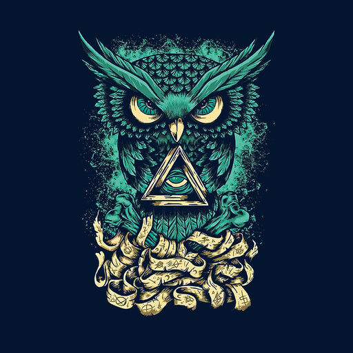 Owl Green Men Half T-Shirt