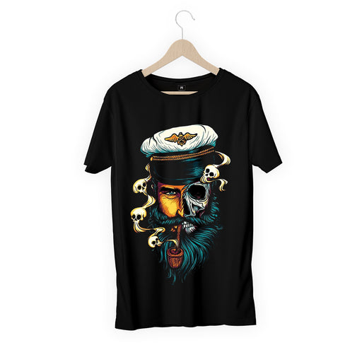 Captain Skeleton Men Half T-Shirt