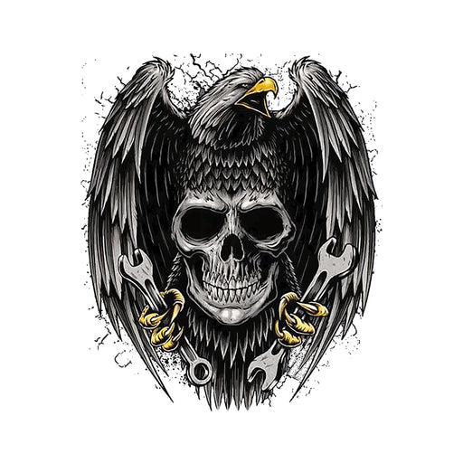 Skeleton And Eagle Men Half T-Shirt