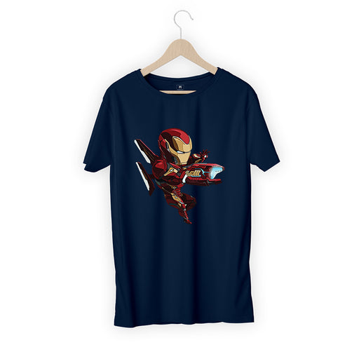 Kid Ironman Men Half T-Shirt