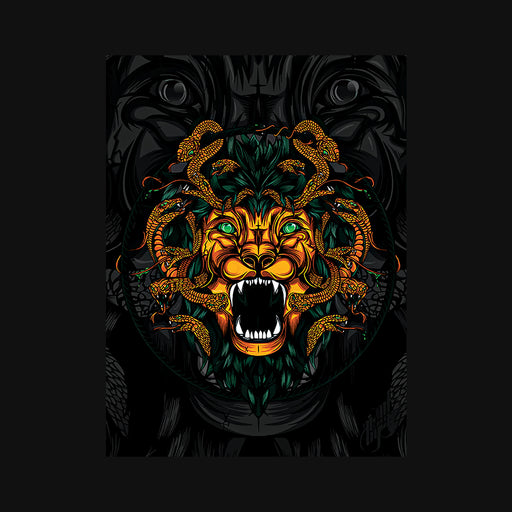 Dangerous Lion Men Half T-Shirt