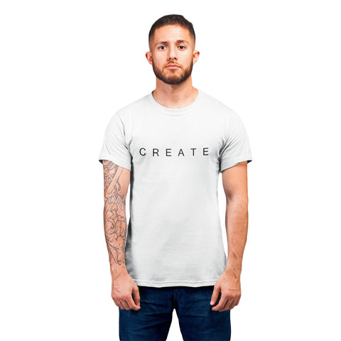 Men Printed Round Neck T-shirt Create