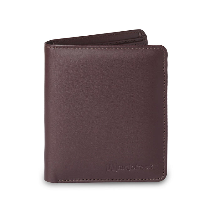 Brown Leather Solid Two Fold Wallet