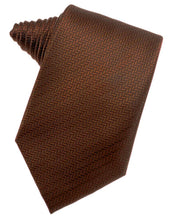 Load image into Gallery viewer, Cinnamon Herringbone Necktie