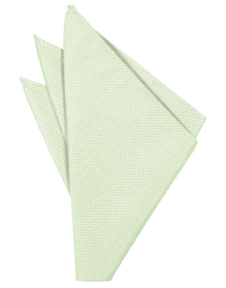 Pistachio Herringbone Pocket Square