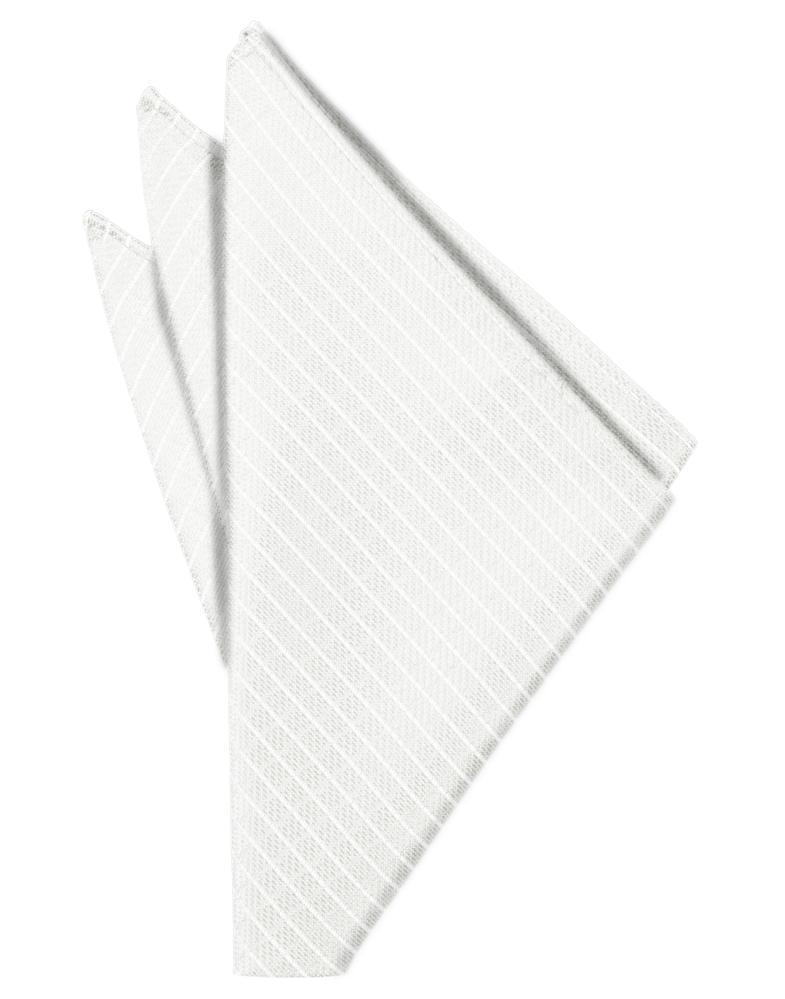 White Palermo Pocket Square