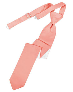 Coral Reef Luxury Satin Skinny Necktie