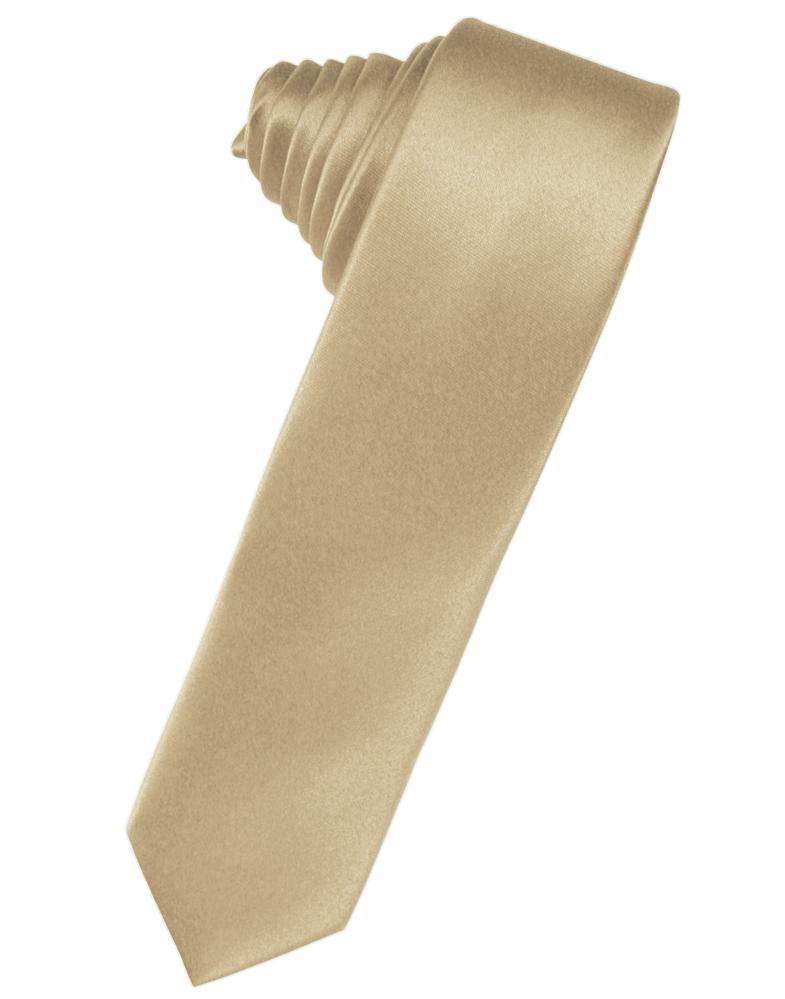 Golden Luxury Satin Skinny Necktie
