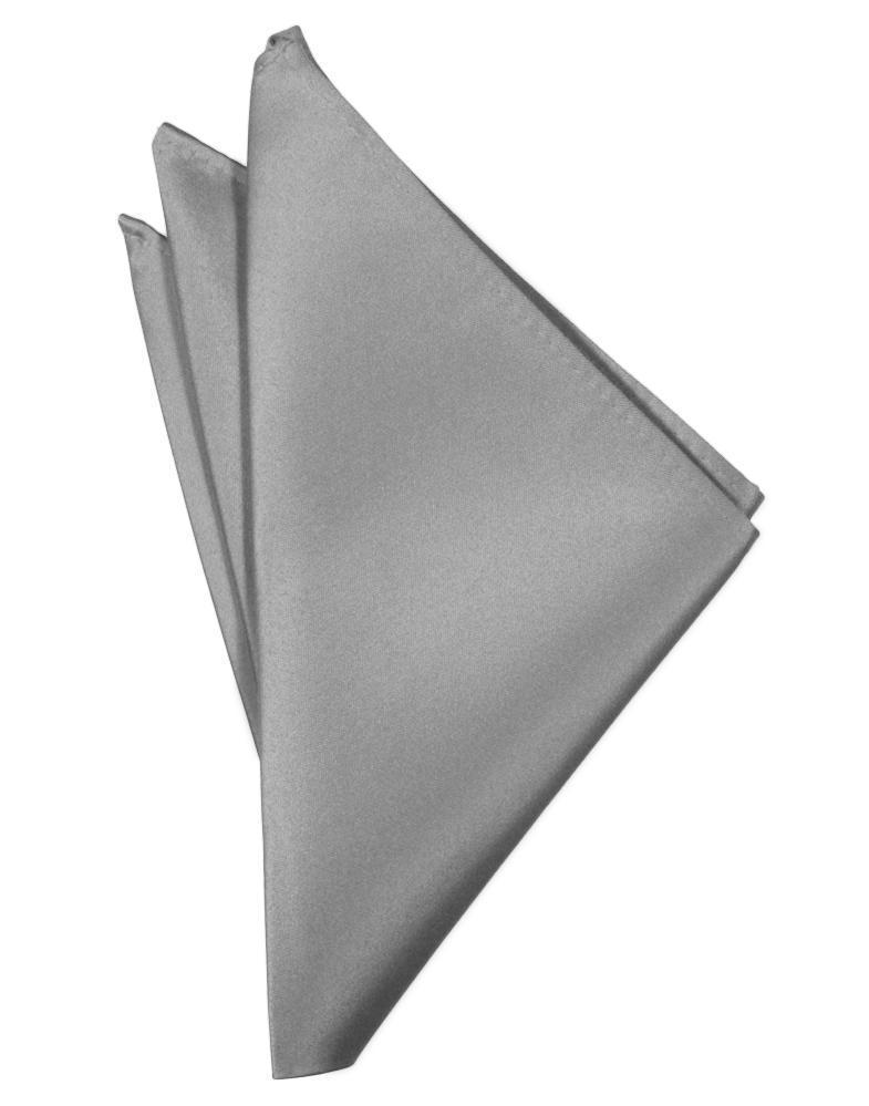 Silver Luxury Satin Pocket Square