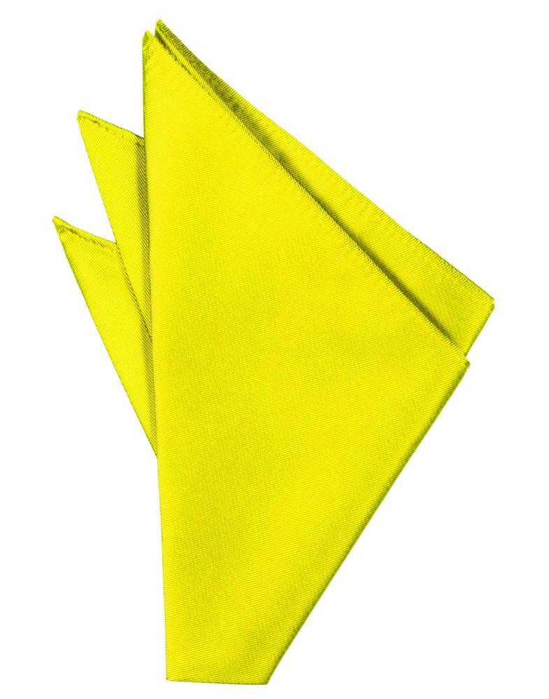 Lemon Solid Twill Pocket Square
