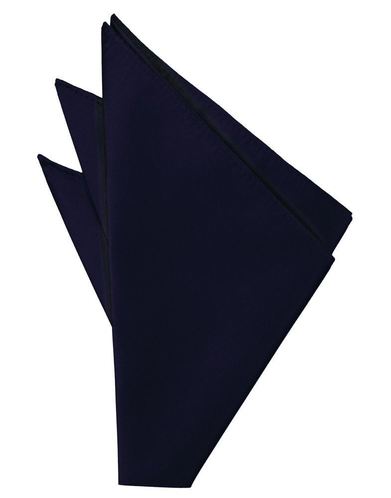 Navy Solid Twill Pocket Square
