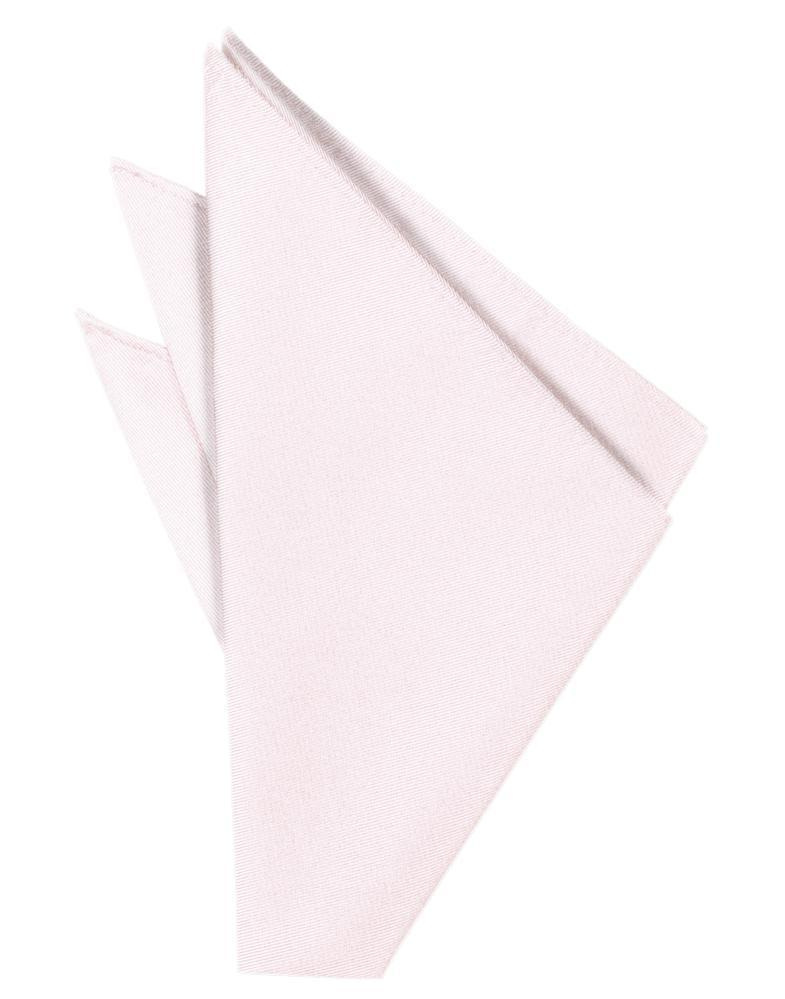 Pink Solid Twill Pocket Square