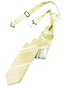 Banana Striped Satin Skinny Necktie
