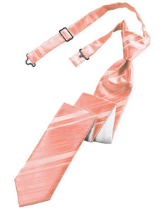 Coral Reef Striped Satin Skinny Necktie