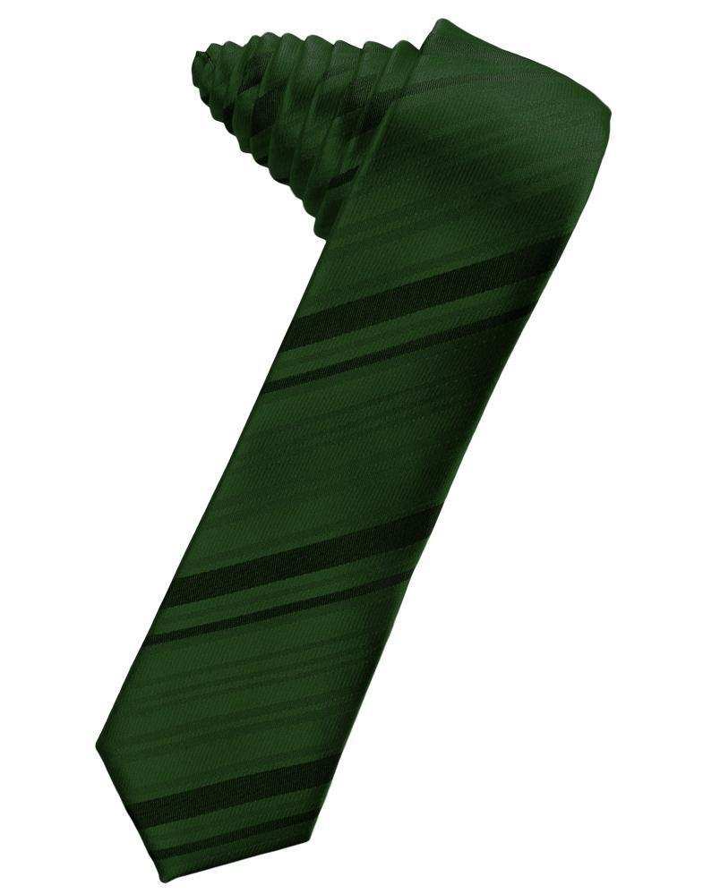 Holly Striped Satin Skinny Necktie