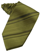 Load image into Gallery viewer, Moss Striped Satin Necktie