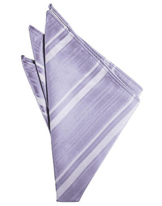 Periwinkle Striped Satin Pocket Square